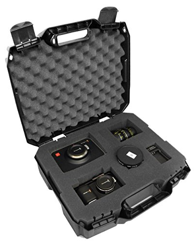 CASEMATIX RUGGED Video Equipment Hard Case Holds DSLR , Camcorder , Portable Audio Recorder , Microphone and More - Protects Canon, Nikon, SONY, TASCAM, Zoom , Rode, Shure , Sennheiser and More