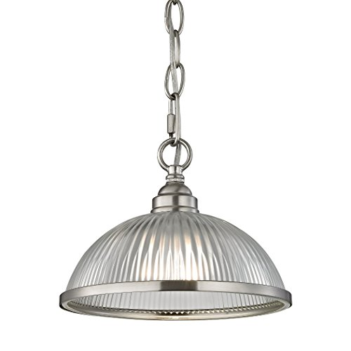 Illuminati Collection Liberty Park 1 Light Pendant In Brushed Nickel ()