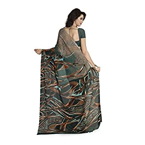 Vaamsi Chiffon Ready to wear Saree (Raga3102_Multicoloured_One Size)