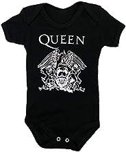 Body Infantil bandas de rock Queen Body bebe preto Manga Curta Rock Menino Menina
