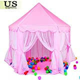 Princess Castle Play Tent -Cute Girls Play House for Indoor and Outdoor Fun-Perfect for Kids Role Play and Party Games.