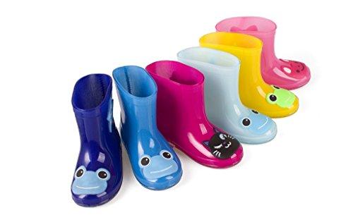 LANSHULAN Pink Girls Cartoon Waterproof Boys Shoes Rain Toddler Boots Kids for rSqrpxv