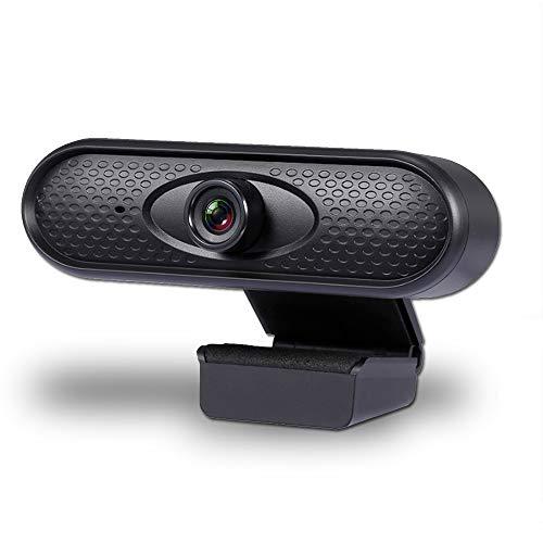 🥇 Tanouve Webcam 1080P Autoenfoque- Cámara Web Full HD 1080P USB Pc Cámara De Computadora con Micrófono Cámara Web De Video Sin Controlador para Enseñanza En Línea Transmisión En Vivo