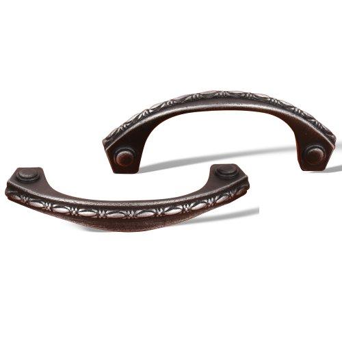 Deco Leaf Bow Pull - Rk International - Distressed Nickel Rki Deco-Leaf Bow Pull (Rkicp5617Dn)