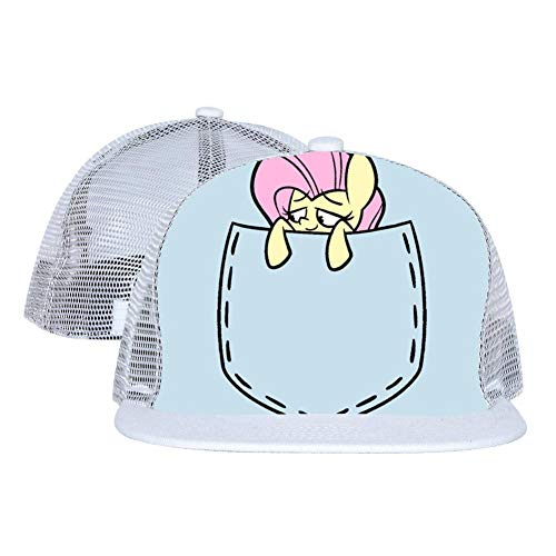 M-L-Pony in Pocket Unisex Mesh Cap Fitted Adjustable Fashion Baseball Hats -
