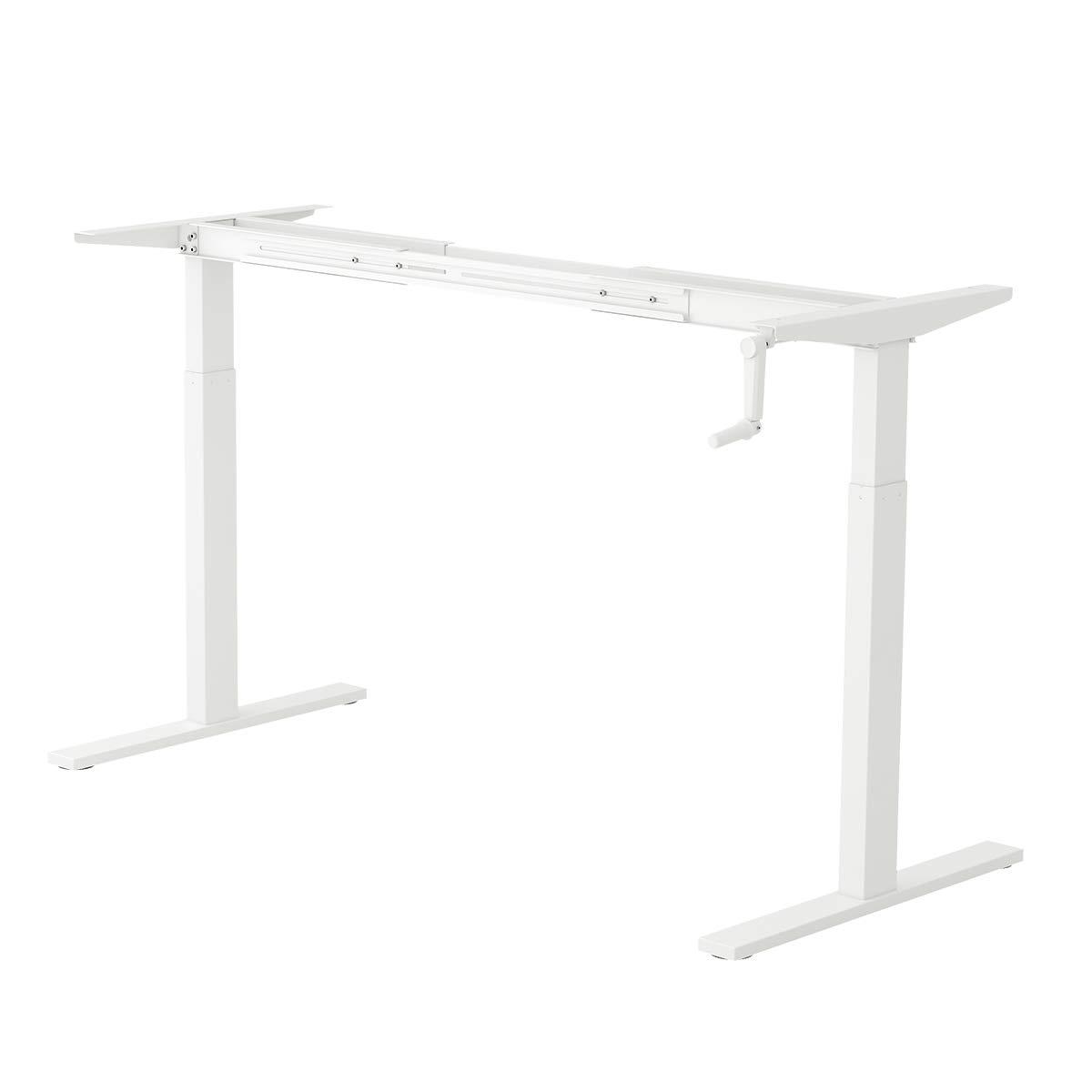 DEVAISE Height Adjustable Standing Desk Frame with Crank Handle