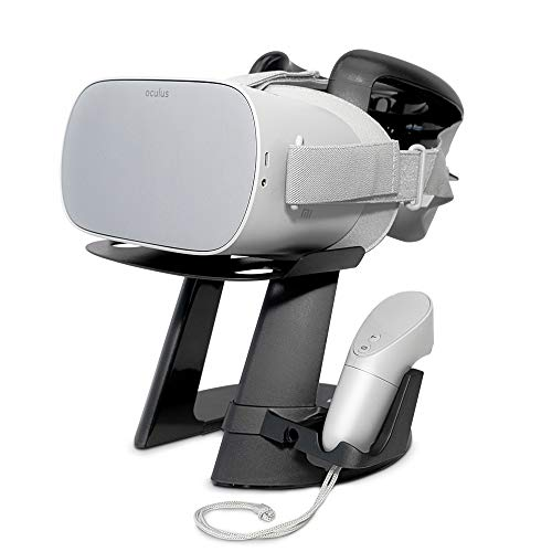 VeeR VR Headset Stand with One Controller Holder - Virtual Reality Display Mount Station for Oculus Go, Samsung Gear VR and Google Daydream