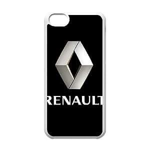 Logotipo de Renault caso 5c funda iPhone P8P68L1GM funda 5KAF70 blanco