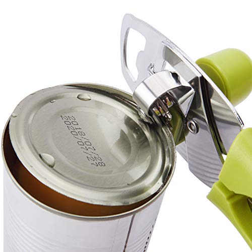 HOYIRAN Manual Good Grips Can Opener,Food-Grade Carbon-Steel Blade, Tin Can/Bottle/Can Opener for Kitchen, Restaurant, Camping by HOYIRAN (Image #3)