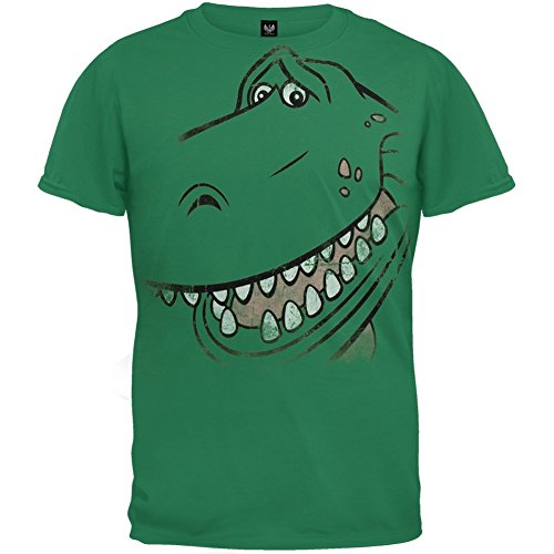 Toy Story - Unisex Rex Face T-shirt Youth Large Green OG Exclusive