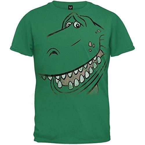 Toy Story - Unisex Rex Face T-shirt Youth Medium Green OG - Og Story