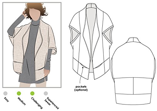 Style Sewing Pattern (Style Arc Sewing Pattern - Violet Knit Jacket (Sizes 18-30) - Click for Other Sizes)
