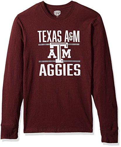 NCAA Texas A&M Aggies Men's Ots Rival Long sleeve Tee, Large, Dark Maroon