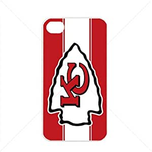 NFL American football Kansas City Chiefs Fans Case For Iphone 5C Cover PC Soft (White)