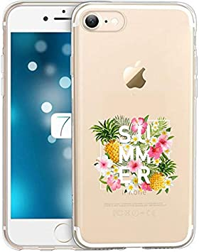 Coque iphone 5 5S Se Summer Ananas Tropical Jungle