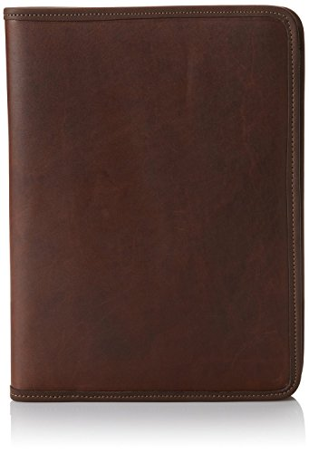 Jack Georges University Letter Size Writing Leather Pad in Brown by Jack Georges