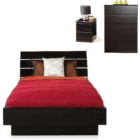 Laguna 3-Piece Queen Bed, Nightstand, and 5-Drawer Chest Set