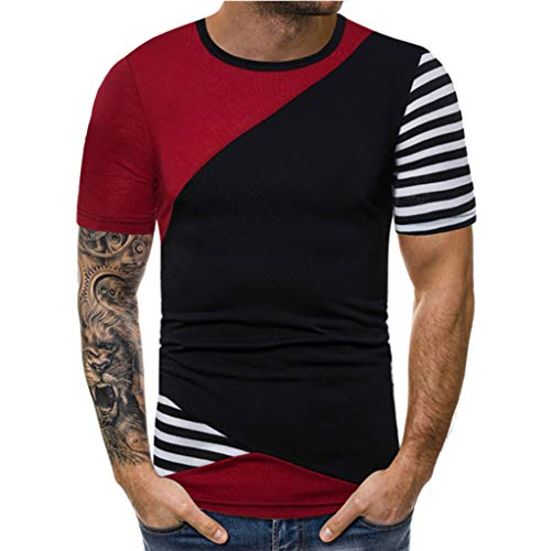 puxiaoa Mens Fashion Casual Short Sleeve Henley T-Shirts