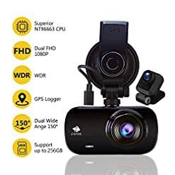 Z-Edge Car GPS Dashcam, FHD 1440P Front and 1080P Rear Dash Cam Dual Lens Video Recording, 2.7inch 150° Wide Angle G… Car and Vehicle Electronics [tag]