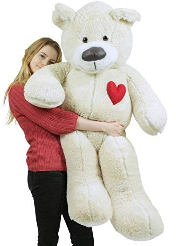 5cfdd9b918b Image Unavailable. Image not available for. Color  Big Plush Valentine s  Day Giant Teddy Bear with Heart on Chest to Express Love