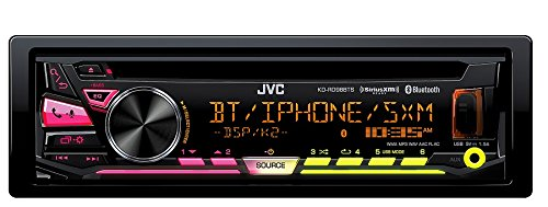 JVC KD-RD98BTS Single DIN Bluetooth In-Dash CD/AM/FM Car Stereo With Pandora Control/iHeartRadio compatibility (Bluetooth Jvc Radio)
