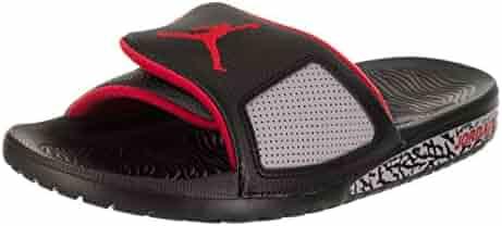 6ba157dd7469eb Jordan Men s Hydro III Retro Slide Sandal Black University Red (10 D(M