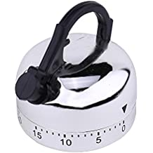 JDgoods Kitchen Timer 60 Minute Mechanical Timer Game Count Down Counter Alarm Kitchen Cooking(Kettle)
