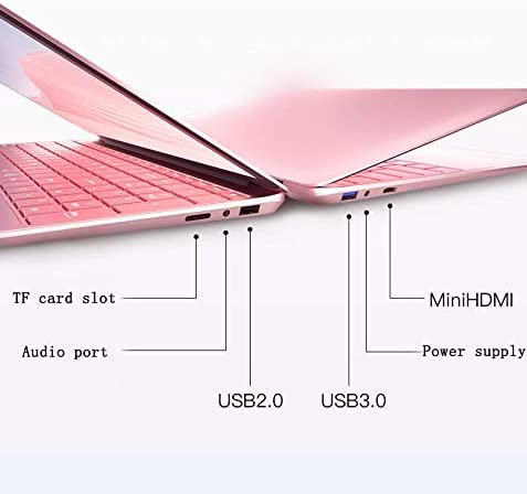 【8GB/Office 2010】 15.6-inch Large Screen Luminous Keyboard high-Performance Laptop J3455 Quiet CPU Wireless LAN 6-Hour Continuous use Windows10 Standard Laptop by Smart US (64G, Rose Gold) 412j2NCBXBL