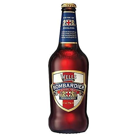 Wells Bombardier Inglés premium de cerveza de 500 ml (paquete de 8 x 500ml)