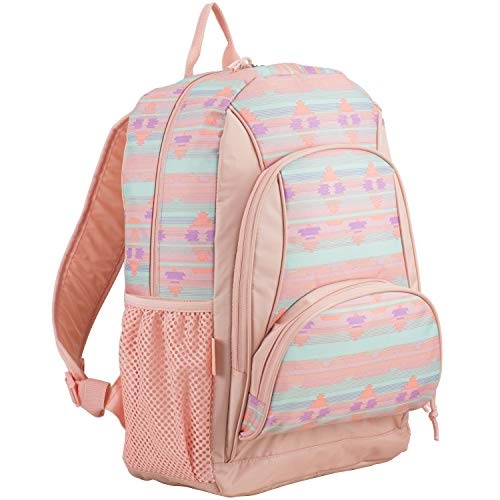 (Eastsport Multi Pocket School Backpack, Soft Silver/Blush/Rainbow Aztec)
