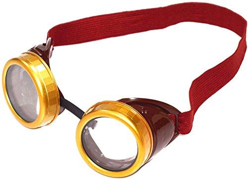 Forum Novelties Steampunk Costume Goggles, Brown, One Size (Plus Size Steampunk Costume)