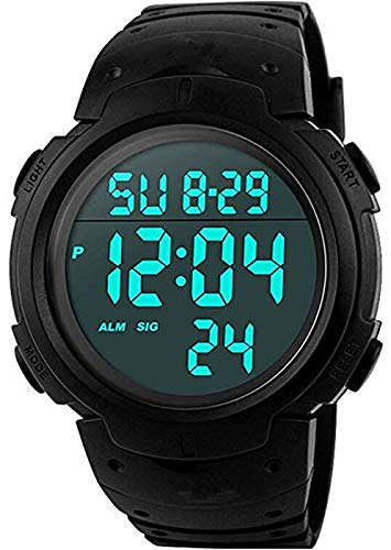 LXY Sports Waterproof Luminous Electronic Watch Digital Square Clock
