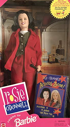Barbie Friend Rosie O'Donnell Doll w Activity Booklet (1999) -