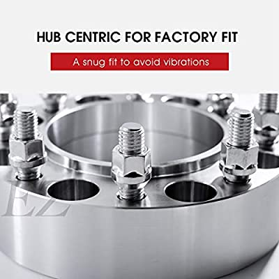 2 Hub Centric Wheel Adapters Spacers 8x170 Compatible with Ford Super Duty 99-02 14x2.0 - Rear: Automotive