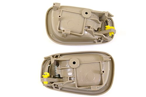 PT Auto Warehouse TO-2543E-QP - Inside Interior Inner Door Handle, Beige/Tan - Manual Lock, 2 Left, 2 Right by PT Auto Warehouse (Image #1)
