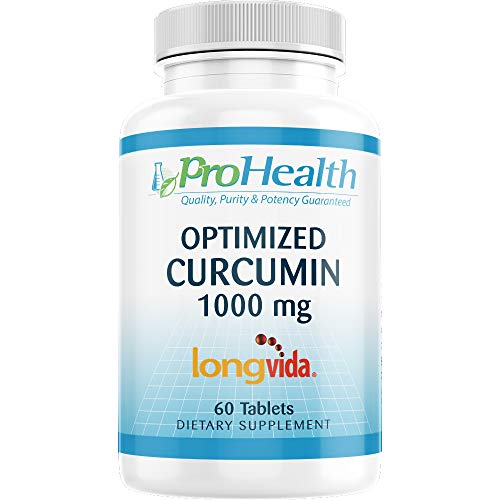 ProHealth Optimized Curcumin Longvida (1000 mg, 60 Tablets) 285x More Bioavailable   Joint Health   Memory and Cognition   Anti-Inflammatory   Antioxidant Supplement