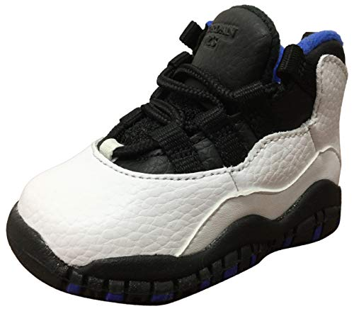 Jordan Air Retro 10Orlando White/Black-Royal Blue (TD) (9 M US Toddler) (Jordans Shoes For Toddlers)