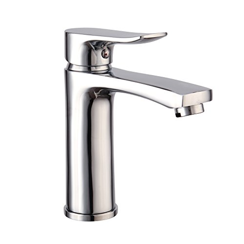 LIDANDA Low-Arc Modern Touch-On Centerset Lavatory Bathroom Sink Faucet,Chrome Finish