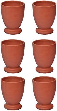 Argile Verre Kullad//Khullad lot de 6 Offre sp/éciale Th/é Tasse /à caf/é en terre cuite traditionnelle indienne