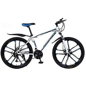 412j4s4QCSL. SS300 WJJH Bicicletta da Mountain Bike, Pedali in PVC e Alluminio, Telaio in Acciaio ad Alto tenore di Carbonio e Lega di Alluminio, Doppio Freno a Disco, Ruote da 26 Pollici