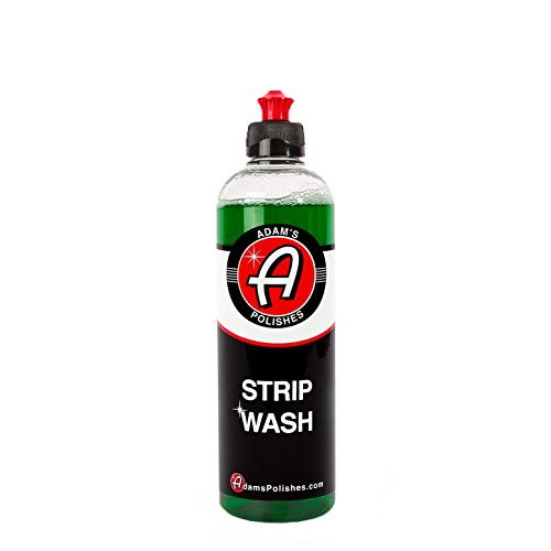 Adam's Strip Wash 16oz - Safely Strips Wax and Sealants, Does Not Dry Out Plastic or Rubber - High Suds Formula Safely Removes Dirt and Other Contaminants (Out Strip)