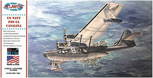 アトランティスモデル 1/104 アメリカ海軍 PBY-5A カタリナ 飛行艇 プラモデル ATLAMCM5301