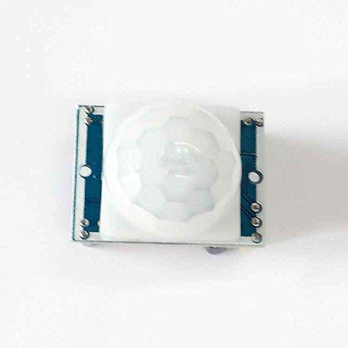 Uzinb Módulo del Sensor HC-SR501 Pequeño PIR de Infrarrojos piroeléctrico Cuerpo de detección de Movimiento: Amazon.es: Electrónica