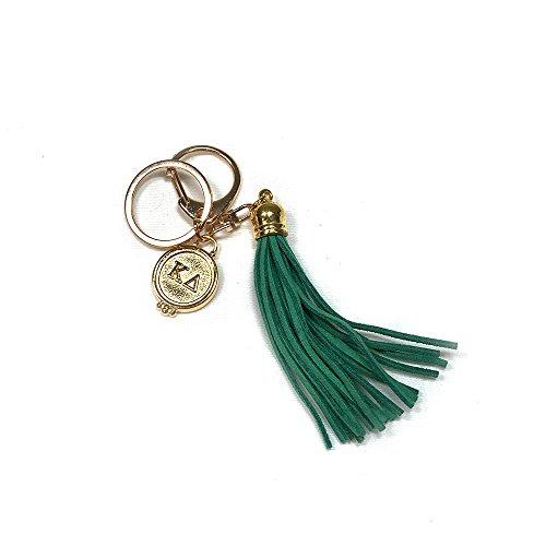 Kappa Delta Sorority Fringe Tassel Keychain with Letters Key Attachment KD