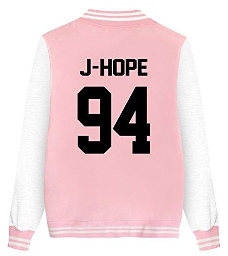 Nouvelles Matelassé Baseball Bomber Bts Mode Fans Outerwear Coat Blouson Manteaux Court Veste Shallgood Femme Classique Pink Jacket Cool Aviateur Automne q8x6Itp7