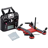YKS UNICORN 220 FPV Quadcopter Drone with HD Camera 8 Channels 2204 Motor 700 TVL (Red&Black)