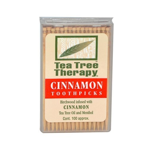 Price comparison product image Cinnamon Tea Tree Toothpicks 100 count By Tea Tree Therapy - 12 Pack
