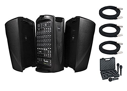 - Fender Passport Venue PA System Bundle With Free Behringer Ultravoice XM1800S Dynamic Cardioid Vocal Microphone Three Pack and Three 20FT XLR Microphone Cables