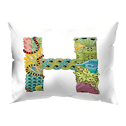 - Throw Pillow Covers, Fulijie A to Z Letter Print Throw Pillow Cases Soft for Sofa Bed Car Home Decor 12 x 20 Inch