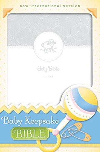 NIV, Baby Keepsake Bible, Leathersoft, White (Keepsake Baby Bible)